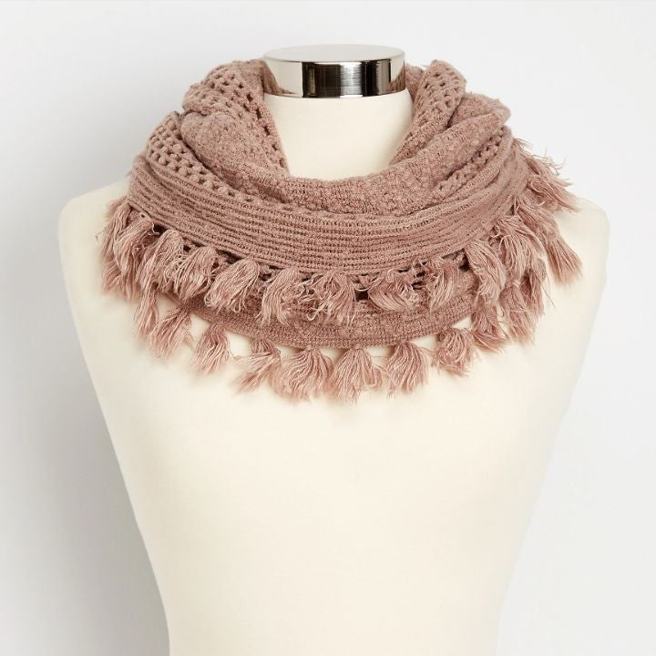 Maurices | Pointelle Knit infinity Scarf