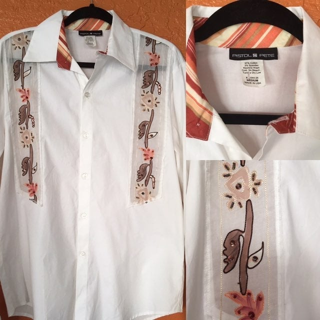 Pistol Pete White Embroidered Shirt