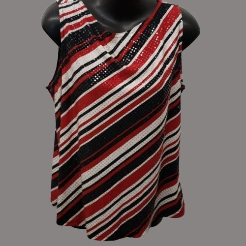 GUC red white black sequined large tank