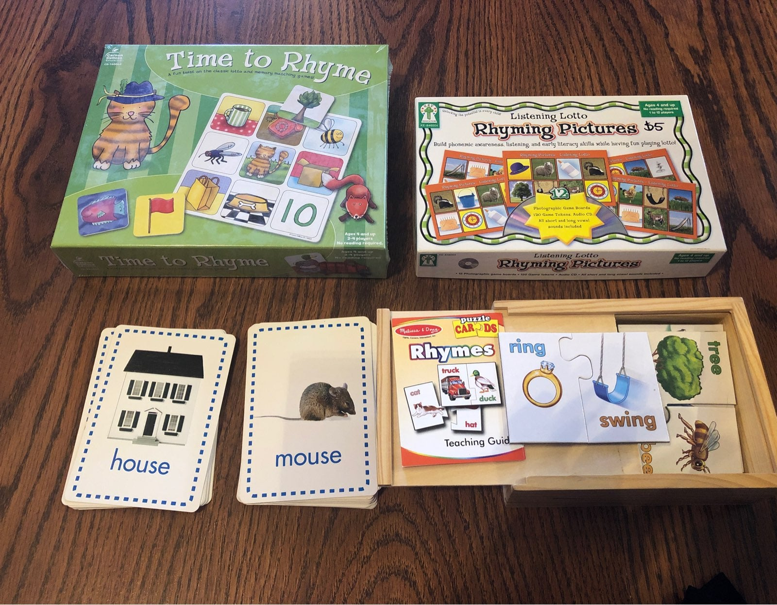 Rhyming Words Early Learning Lot