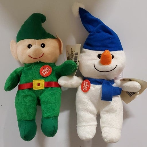 Christmas musical Elf and Snowman Plush