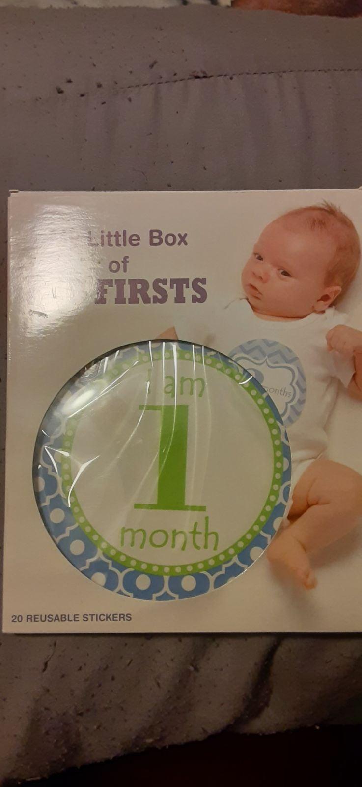 NIP Baby Milestone Cards-never used