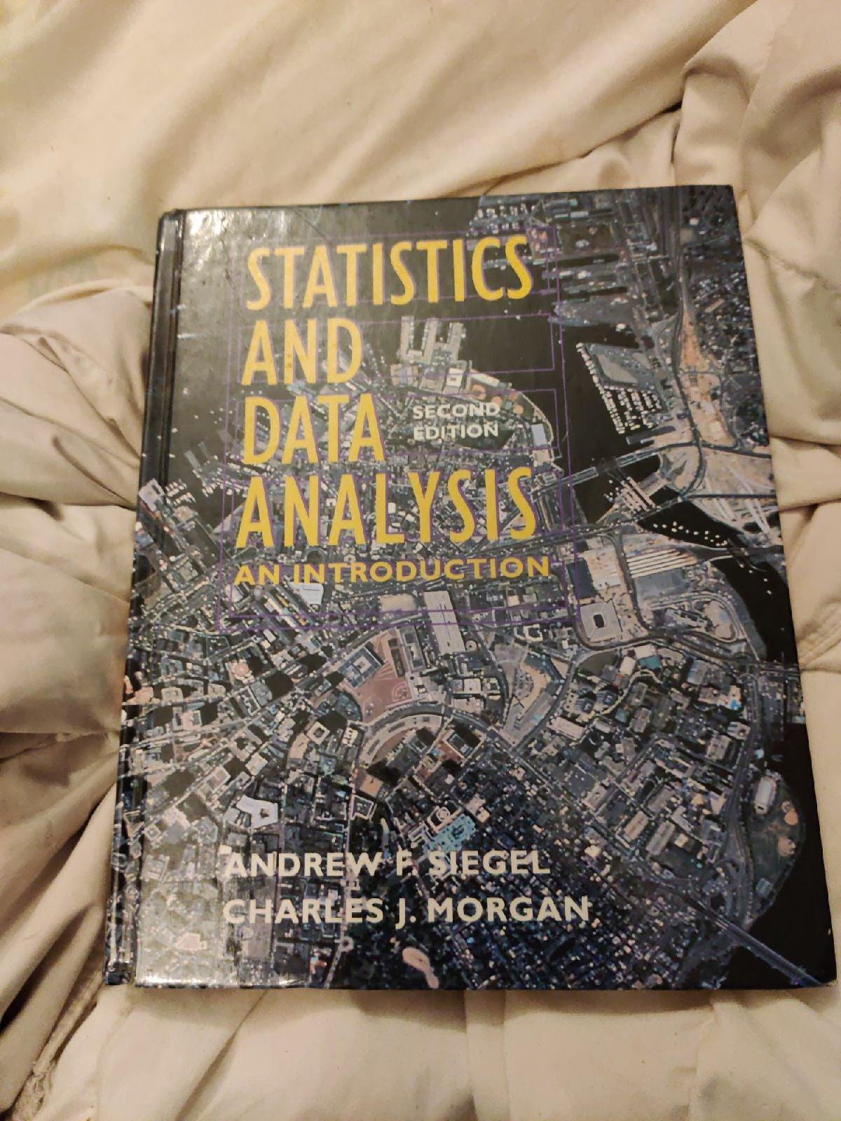 Statistics and data's analysis textbook