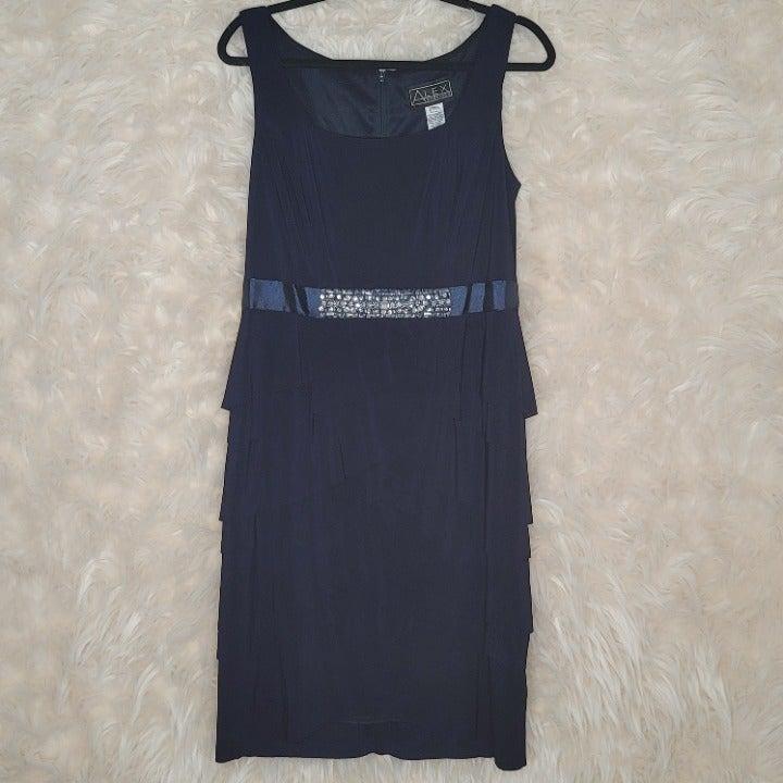Alex Evenings Tiered Dress