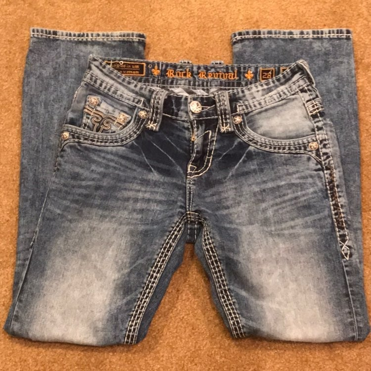 Rock Revival Mens 28x30 Bootcut Jeans