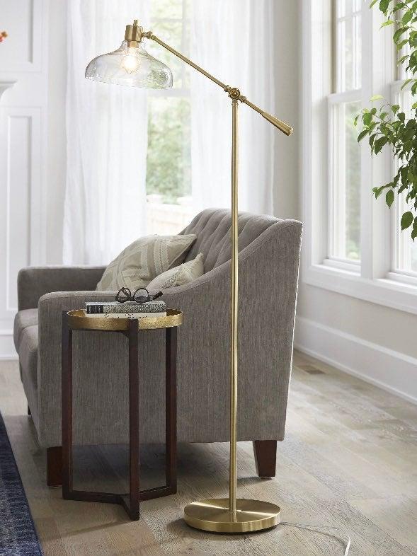 Retro Design Brass Floor Lamp