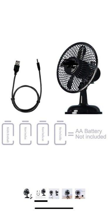 Small Oscillating Desk Fan