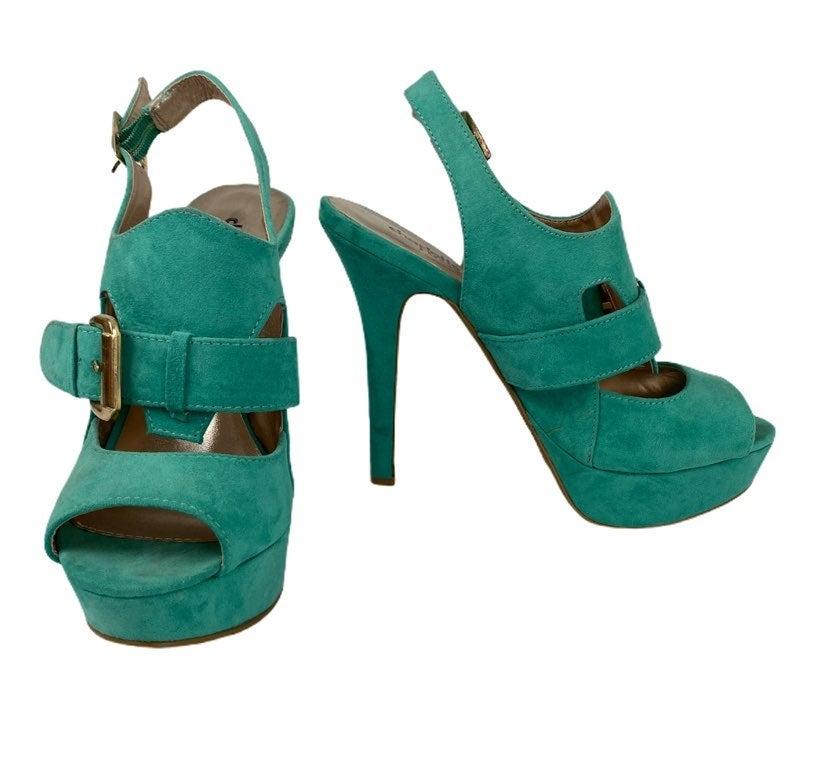 Charlotte Russe Peep Toe Stiletto Green