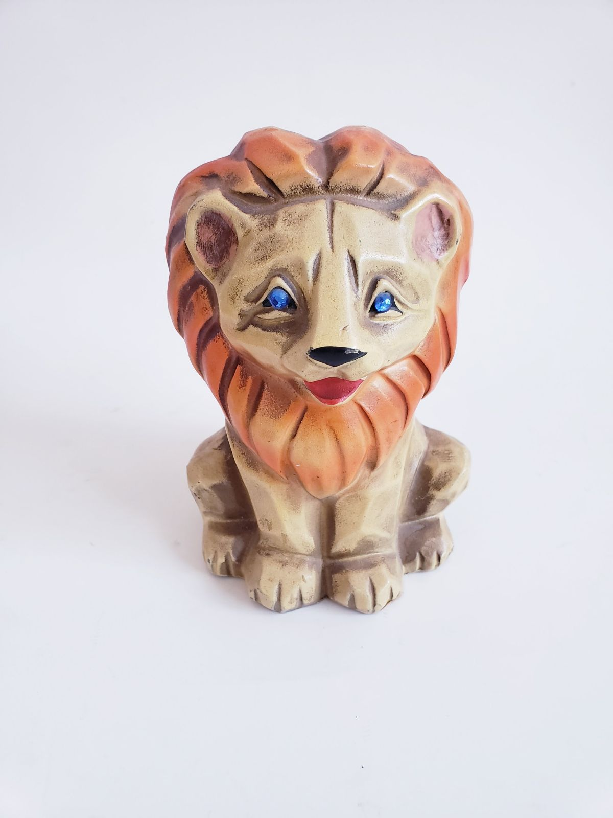 MCM Napco Lion Bank vtg Ceramic figurine