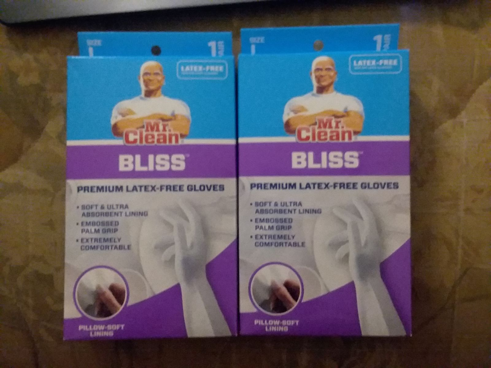 2 Mr. Clean Latex Free Gloves Large NEW