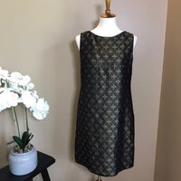 79a0d28d295e5 Tahari Black & Gold Jacquard Shift Dress. Tahari. S