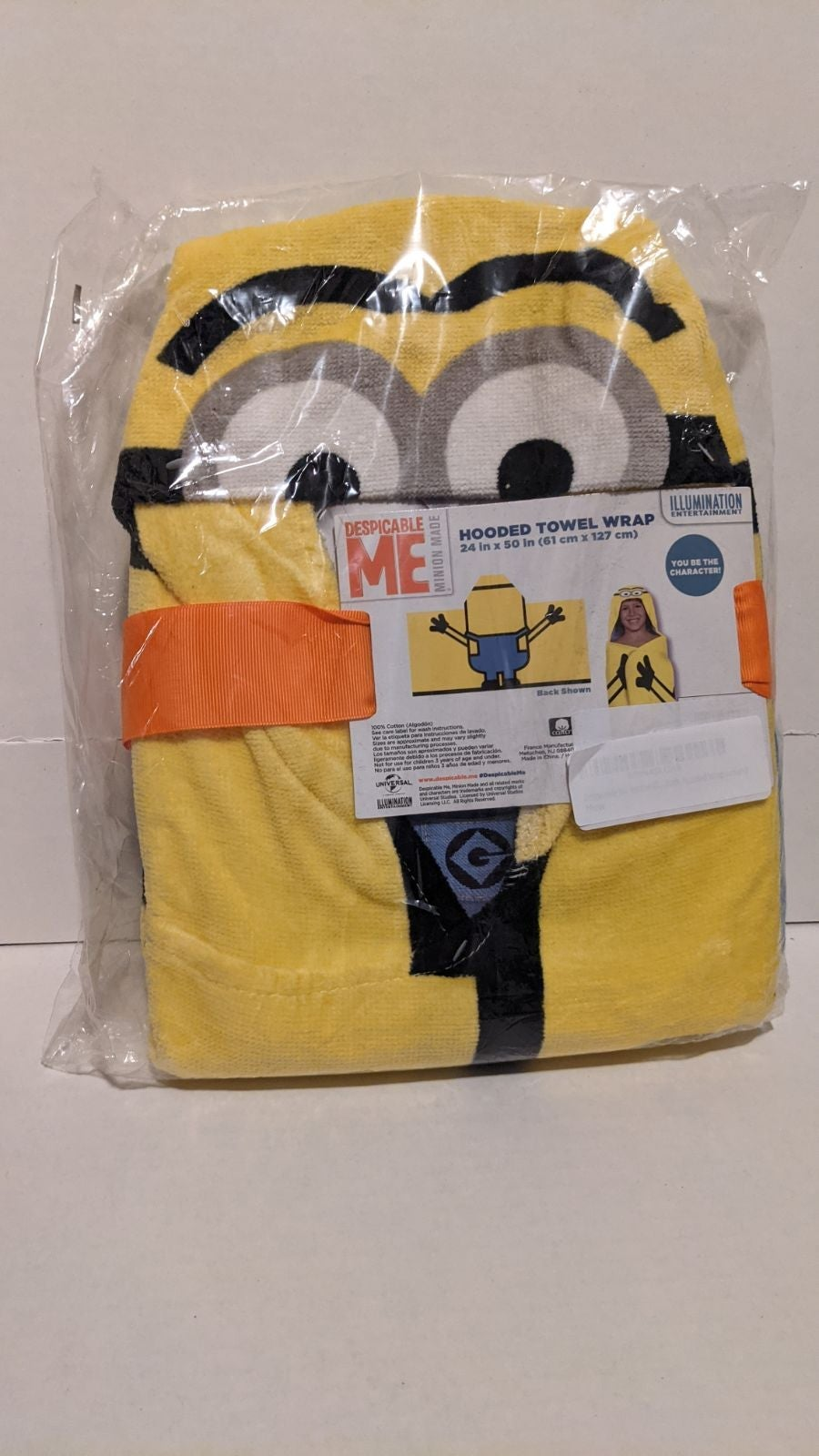 Despicable me minions hooded towel wrap