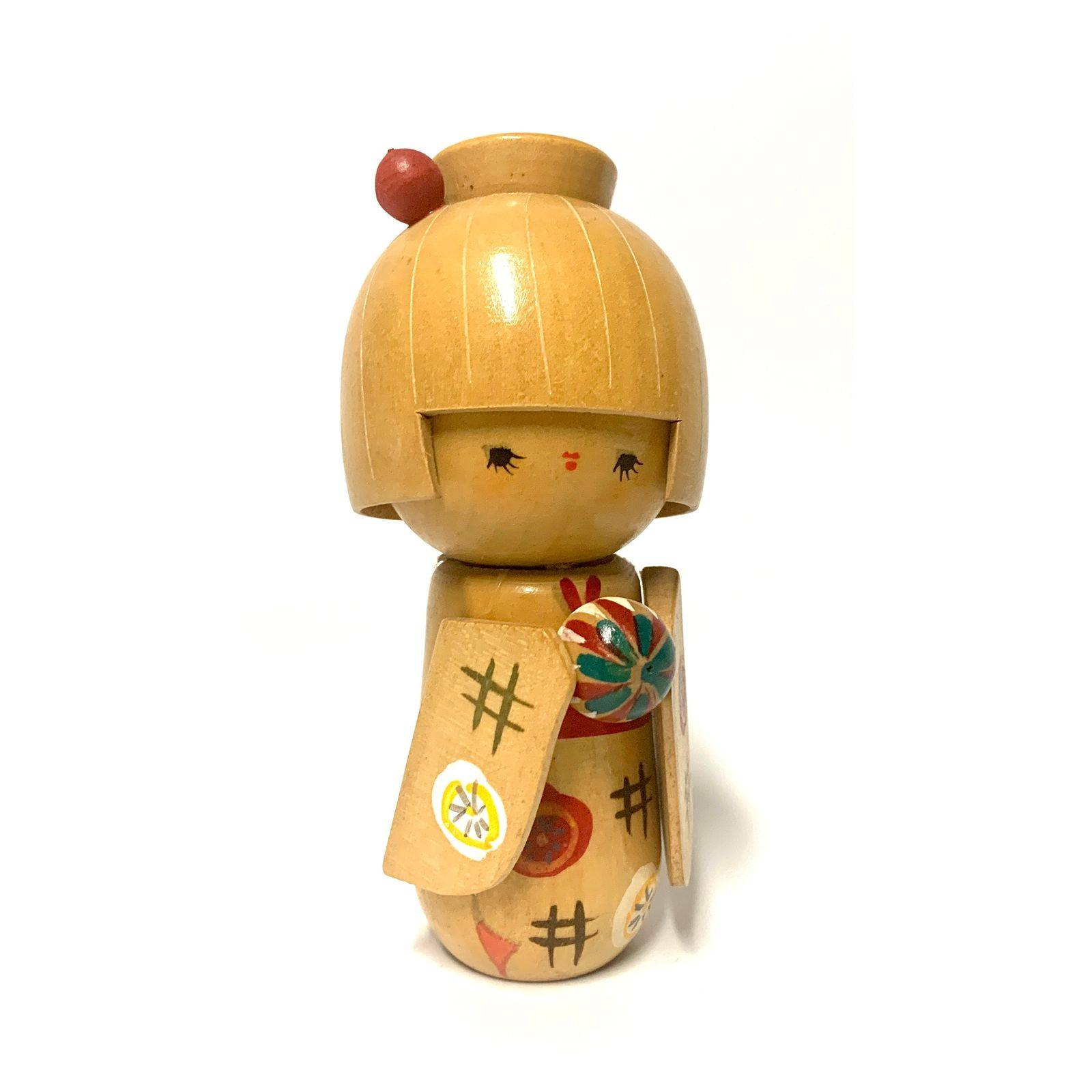 Vintage Japanese Wooden Kokeshi Doll