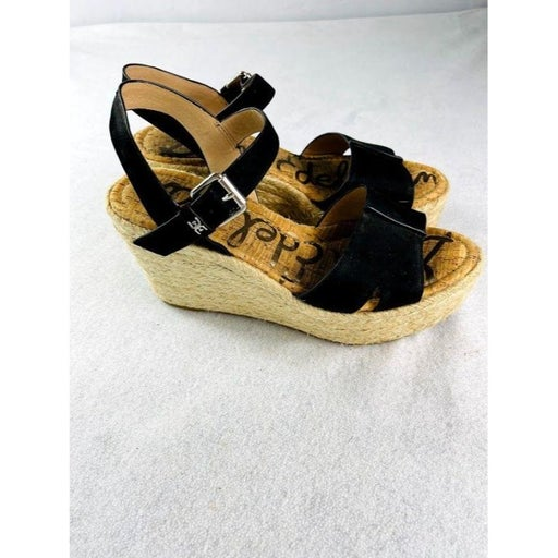 Sam Edelman Black Suede Size 10 Sandals