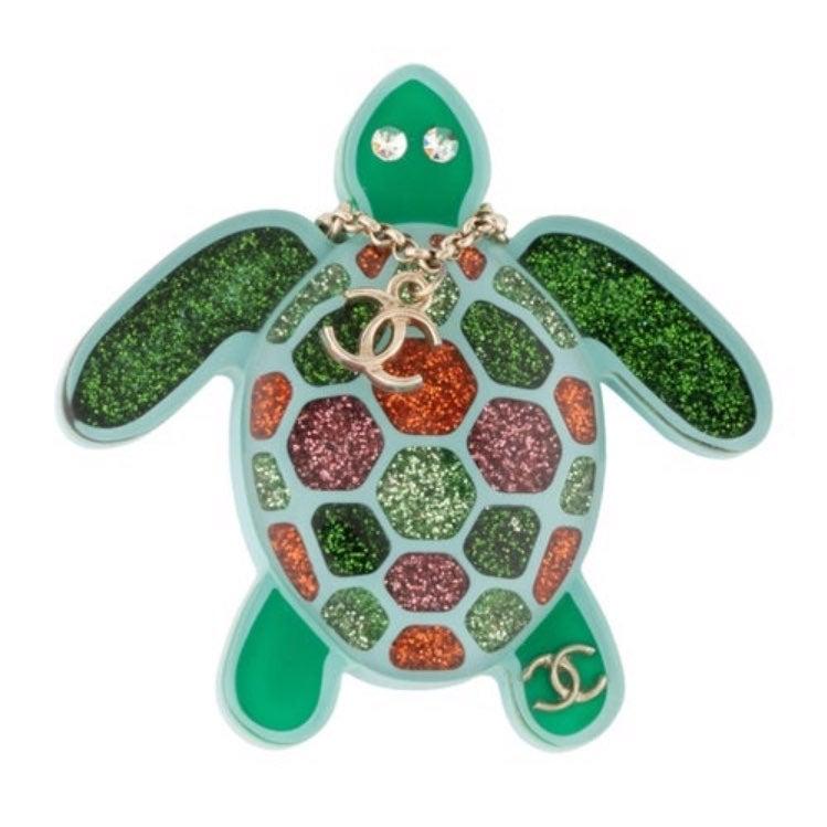 Rare! Chanel Sea Turtle Brooch Resin