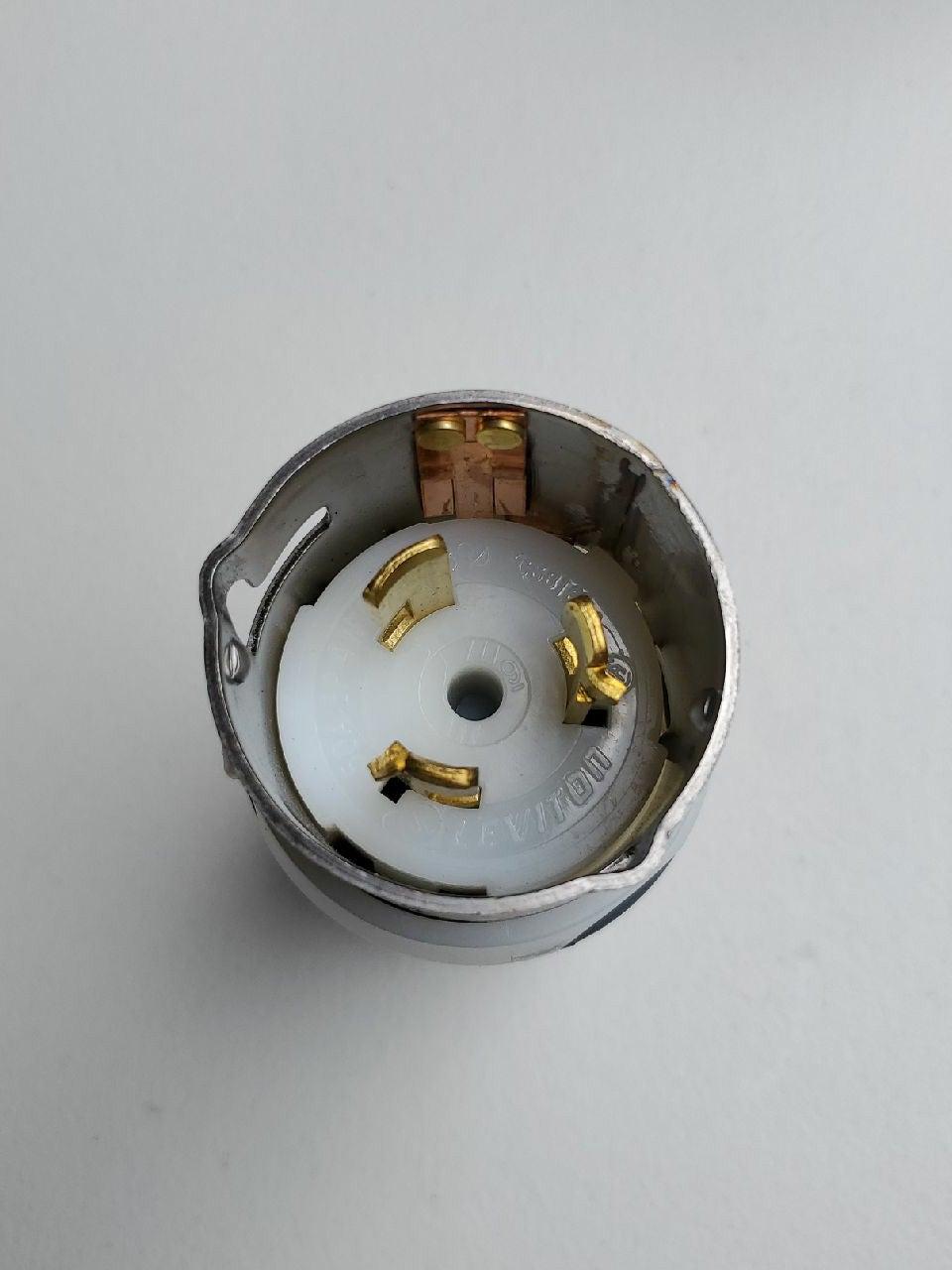 LEVITON CS8165C 50A LOCKING PLUG 3-PHASE