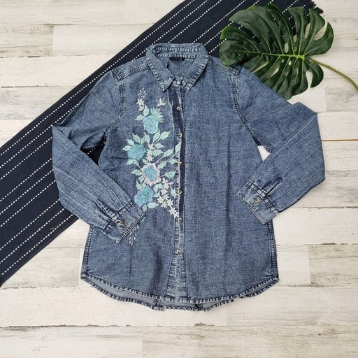 Tolani| Evan Chambray Embroidered Large