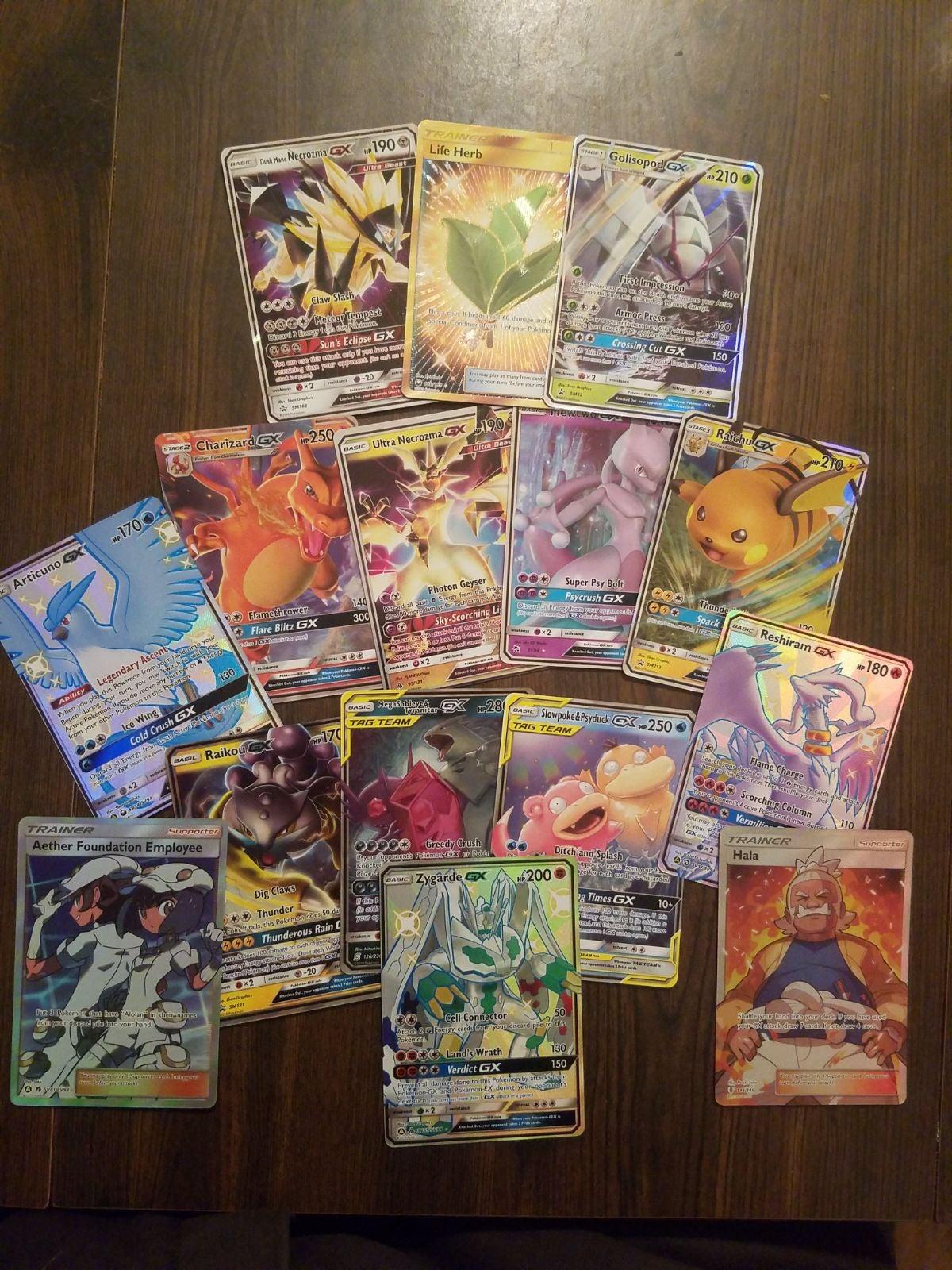 Pokemon Cards GX, EX, full art 15 *res