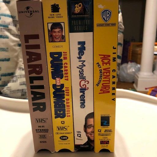 VHS lot of Jim Carrey films