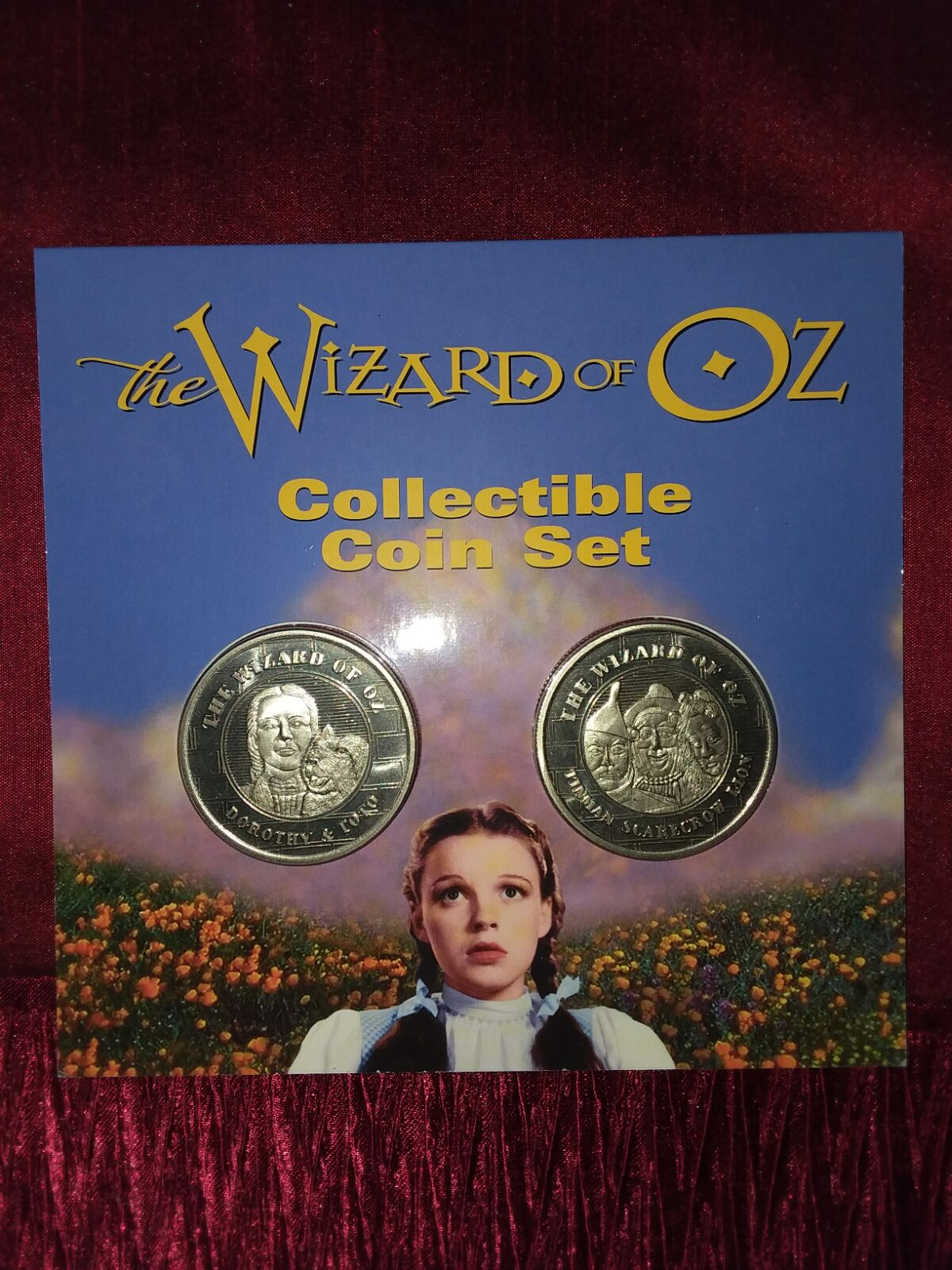 Wizard of Oz Coin & Pewter Keychain