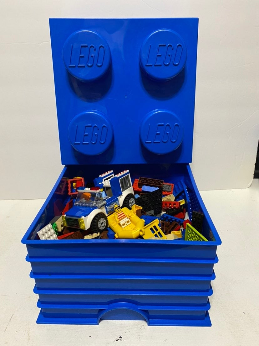 Blue LEGO Storage Container Lot