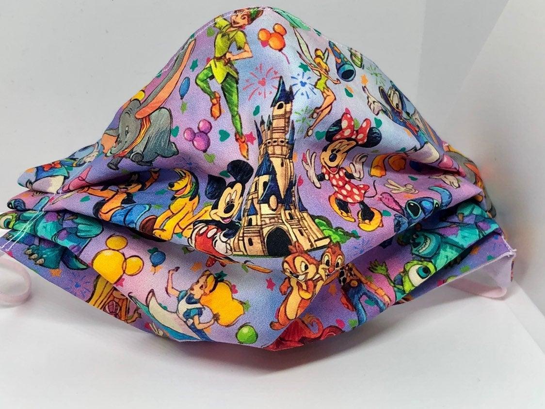 Disney face mask Castle & Peter pan