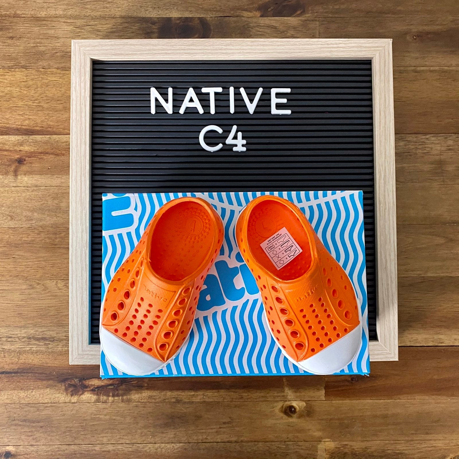 NIB Native Jefferson Orange Shoes C4