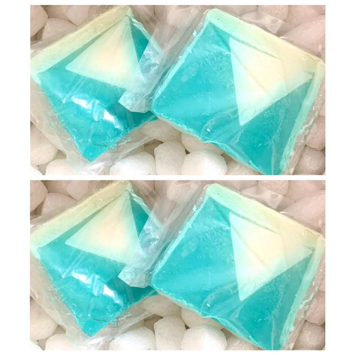 4 Lush Cosmetics snowcake soap bars