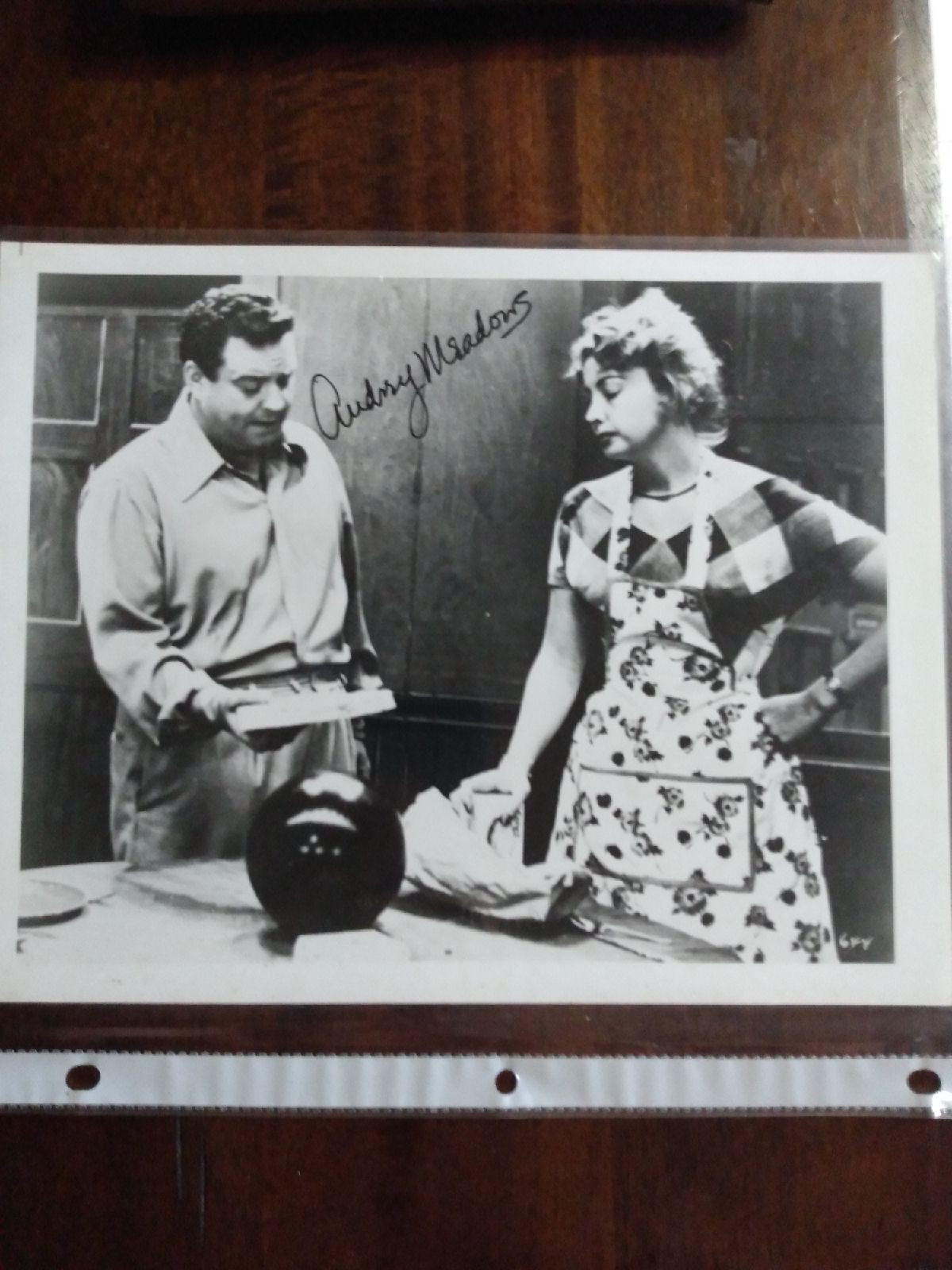 Audrey Meadows The Honeymooners signed p
