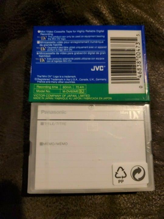 Mini DV Tapes JVC 60ME & Panasonic DVM63