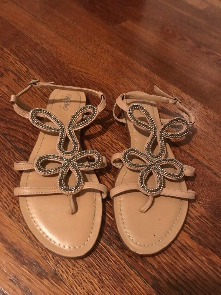 Tan Beaded Sandals