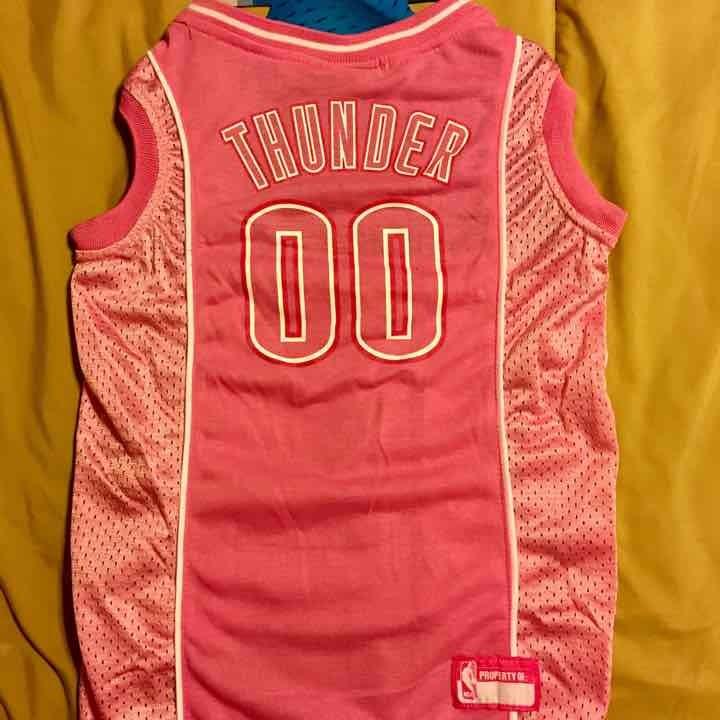 Oklahoma City Thunder Dog Pink Jersey M