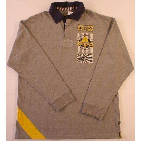 XL Company 81 Rugby Shirt LS Gray NWT