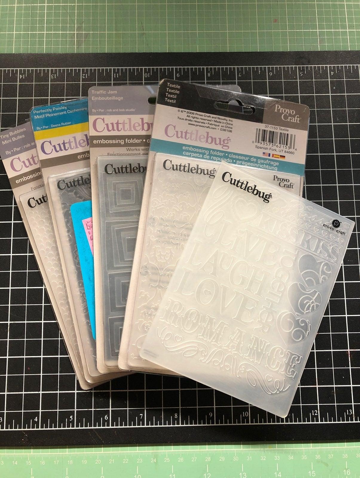 Cuttlebug Various Embossing Folders