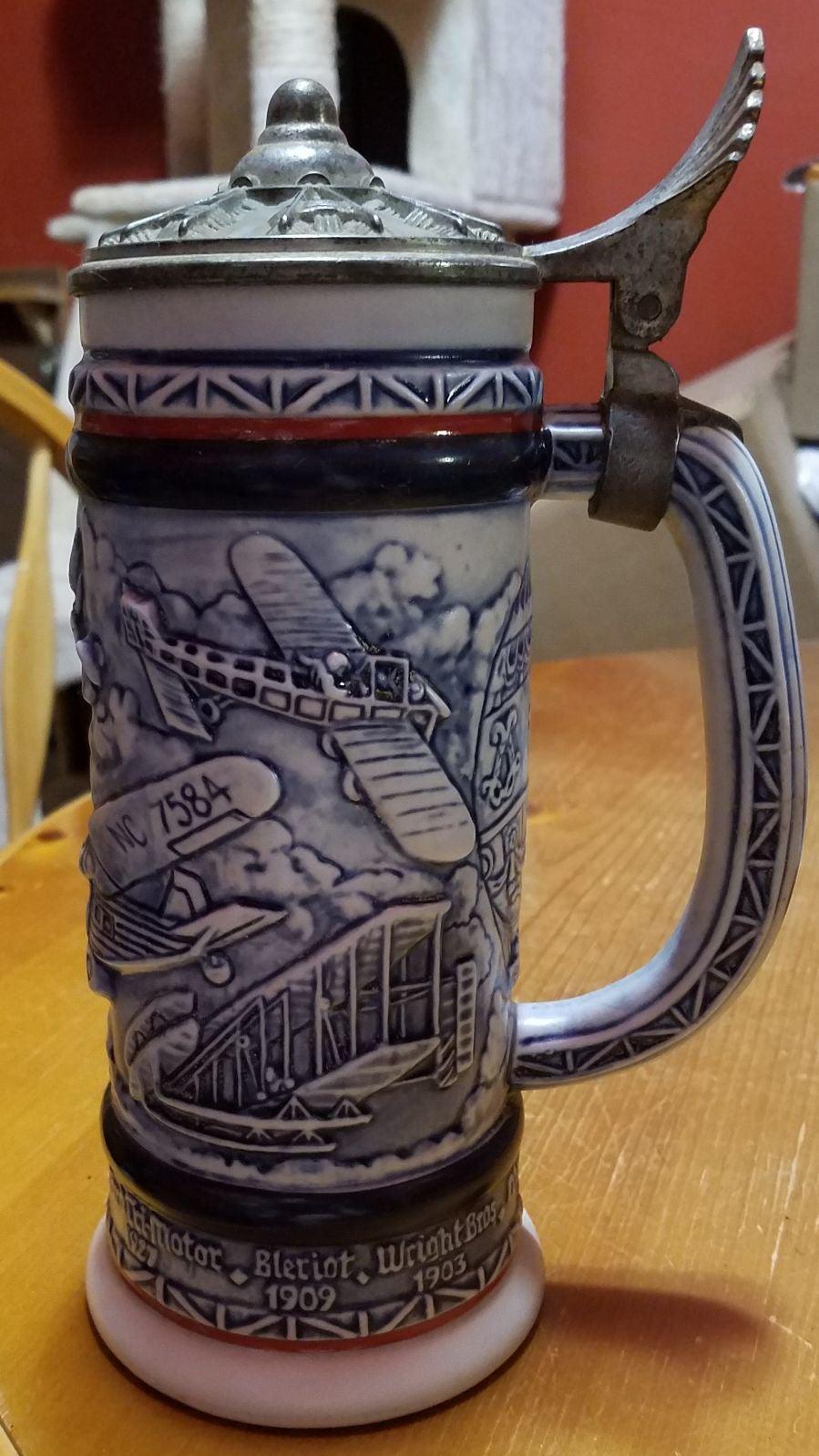 1981 Avon Lidded Collectible Beer Stein