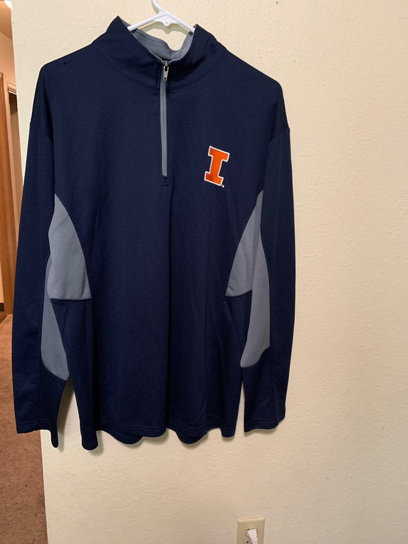 Mens L ProEdge Fighting Illini Pullover