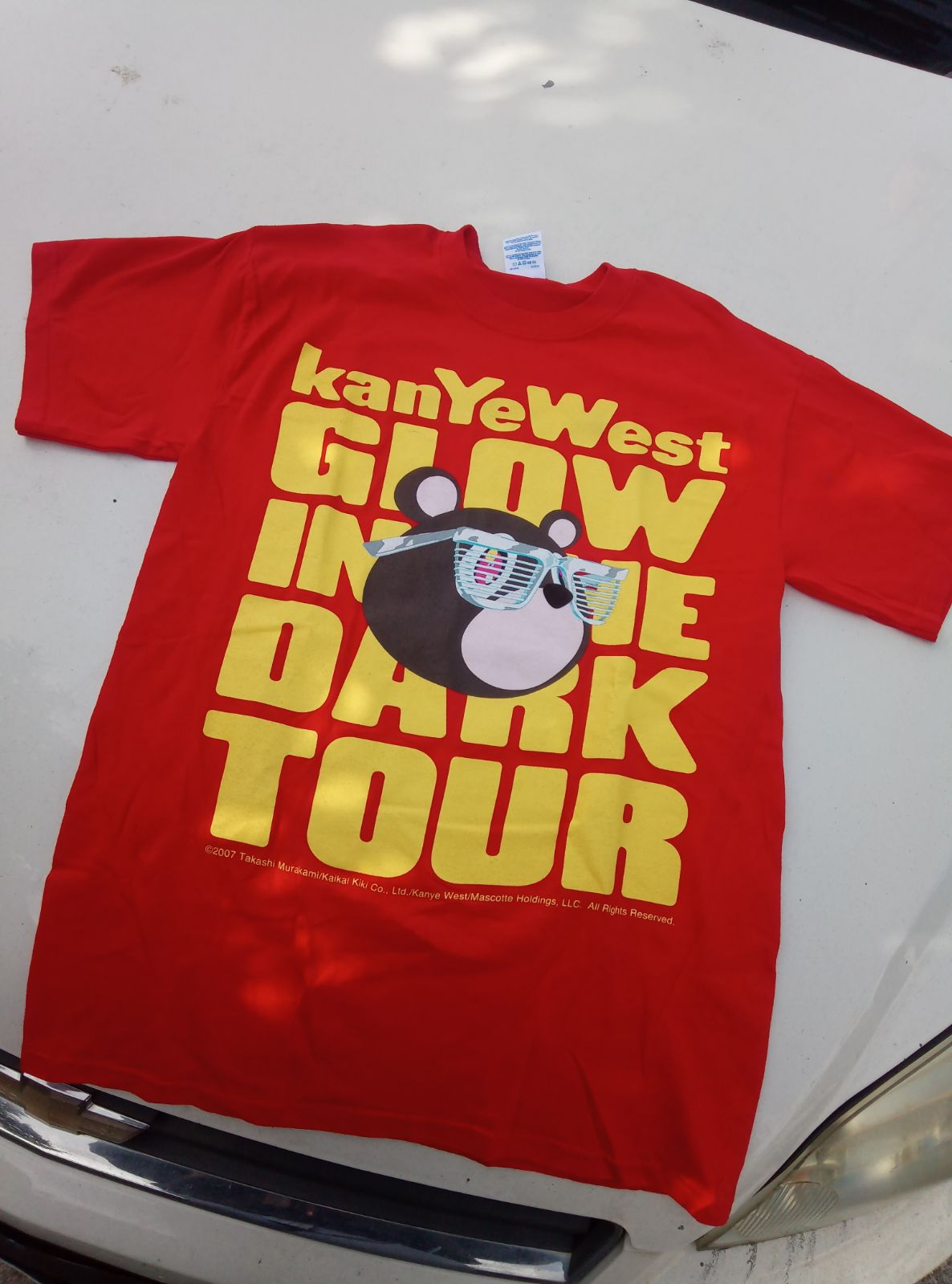 Kanye West glow in the dark tour t-shirt