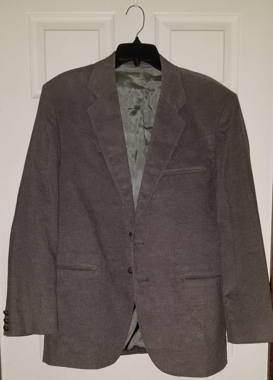 Mens Circle S Blazer 42R Gray