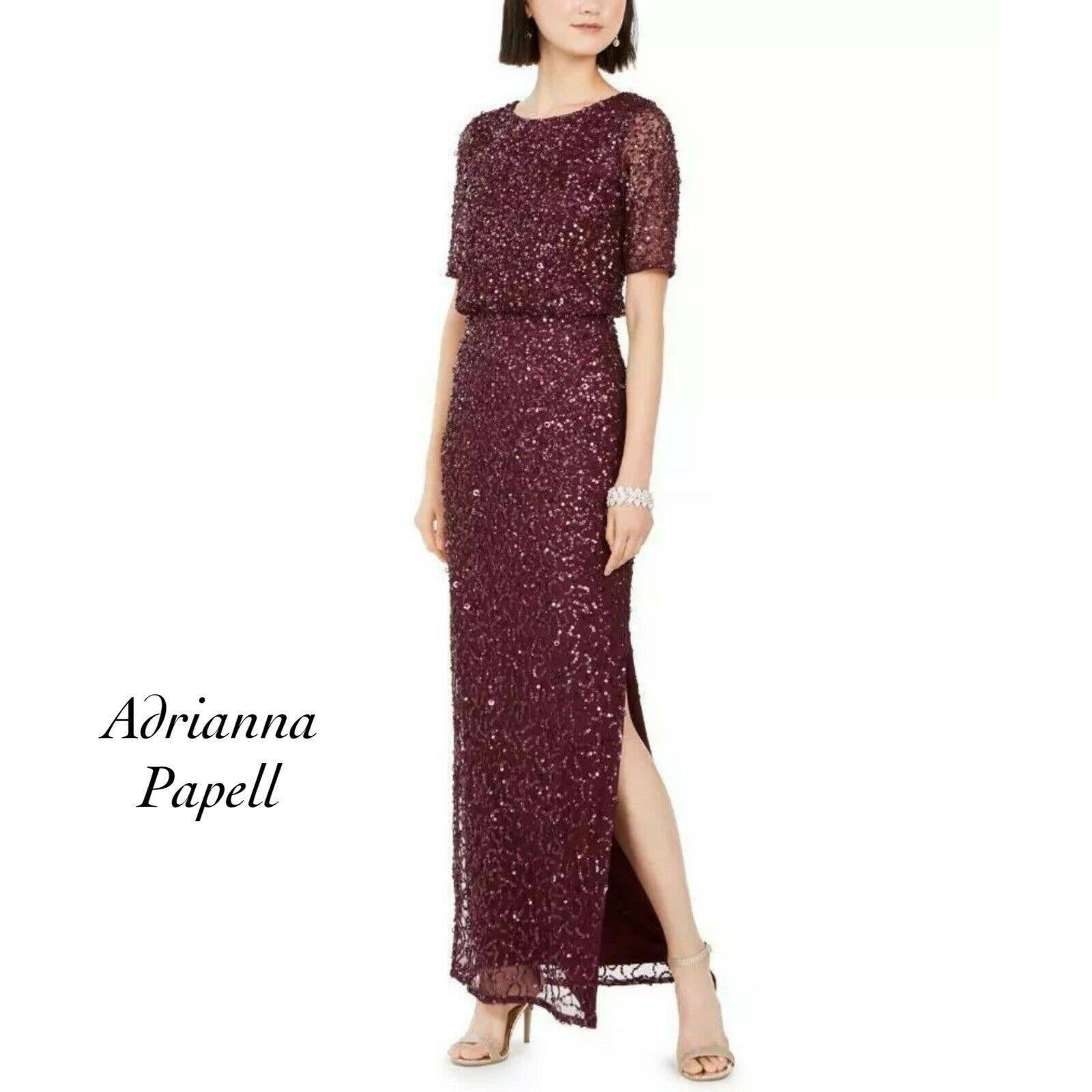 Adrianna Papell Sequin Dress NWT Size 8