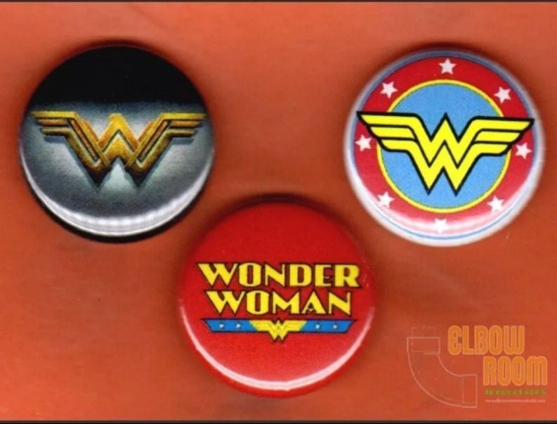 3 Wonder Woman Collectable Pins