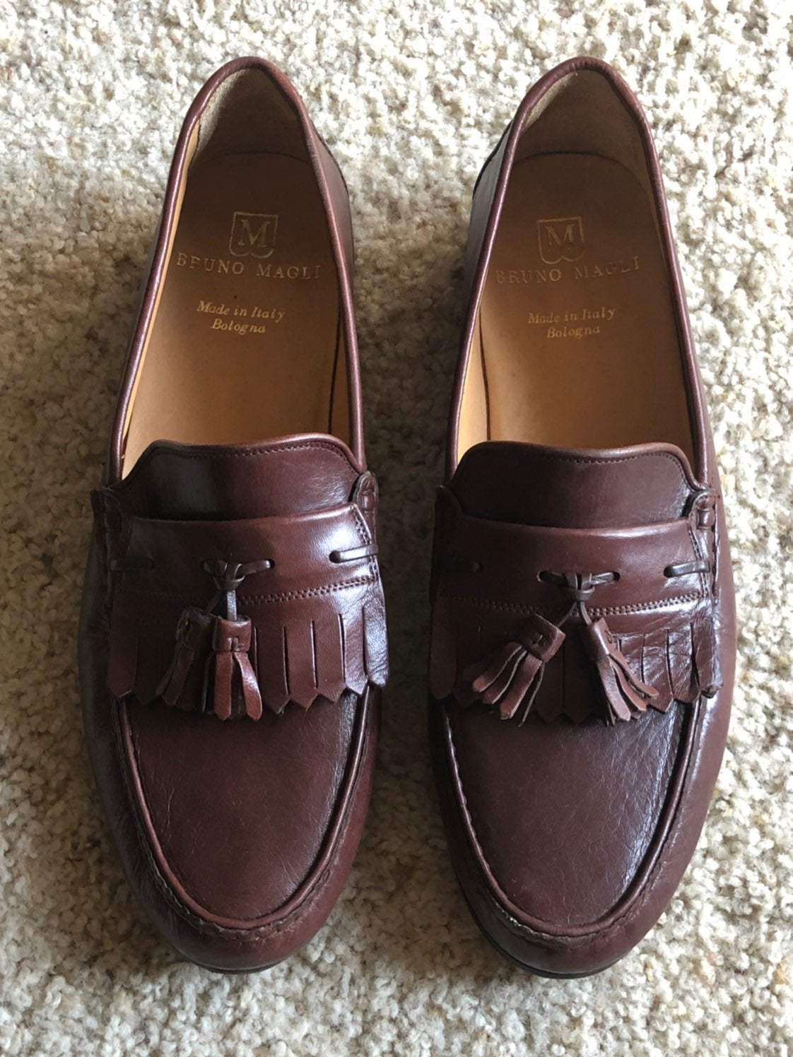 Bruno Magli brown loafers 11 1/2