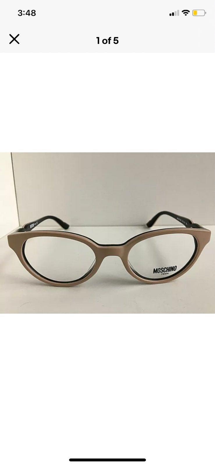 New Girls MOSCHINO Girls Eyeglasses Fram