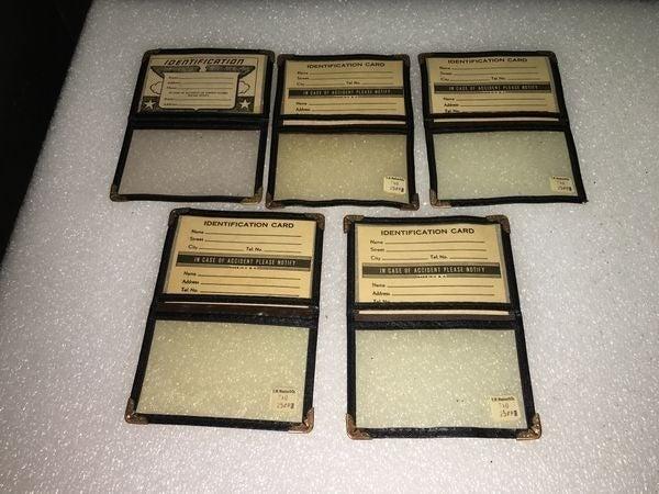 Vintage Lot of 5 Identity Card Unfolded