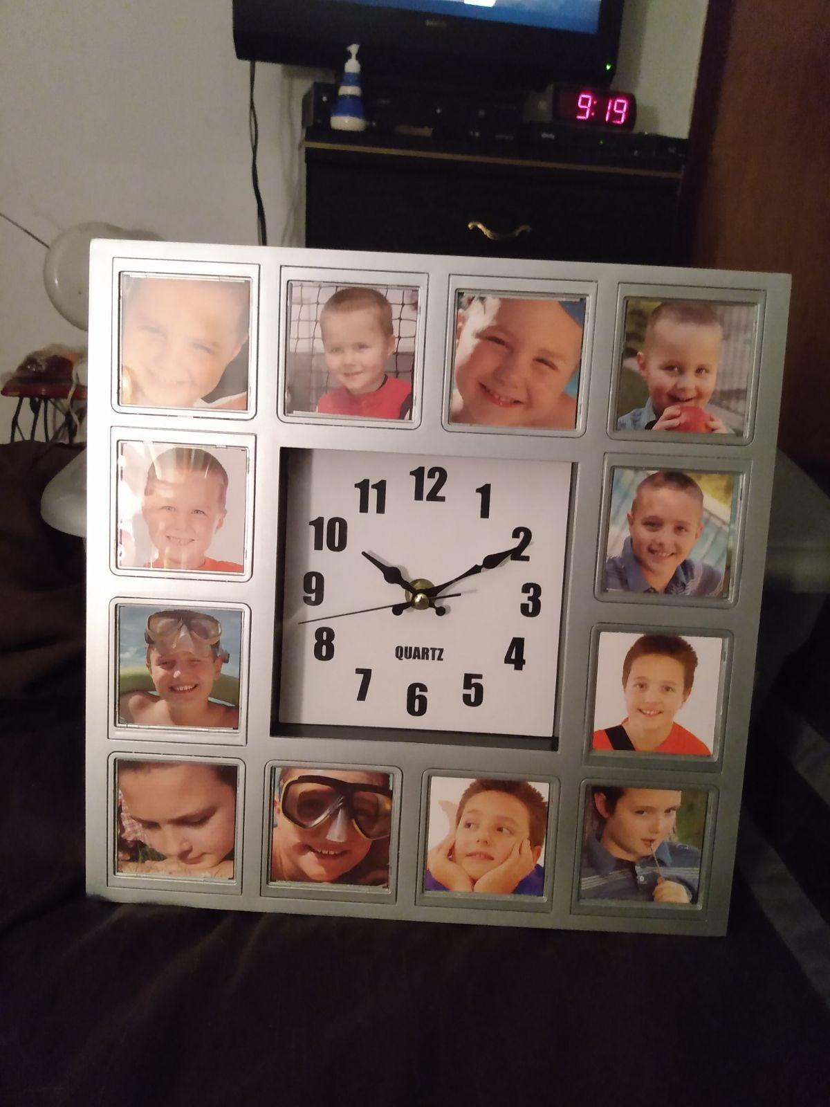 Precious Memories Photo Frame Clock