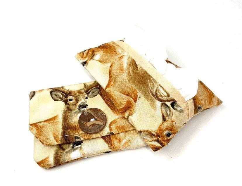 Deer Fabric Card Wallet/Tissue Holder