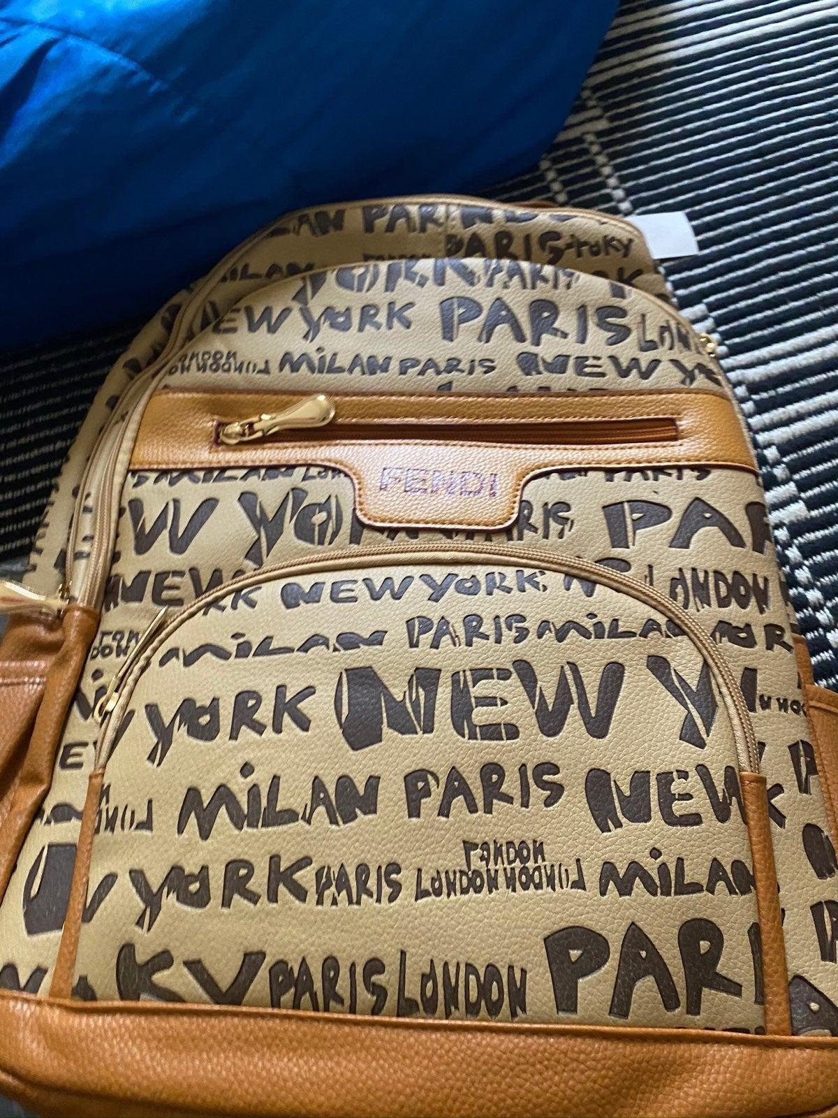 Brown F Bag