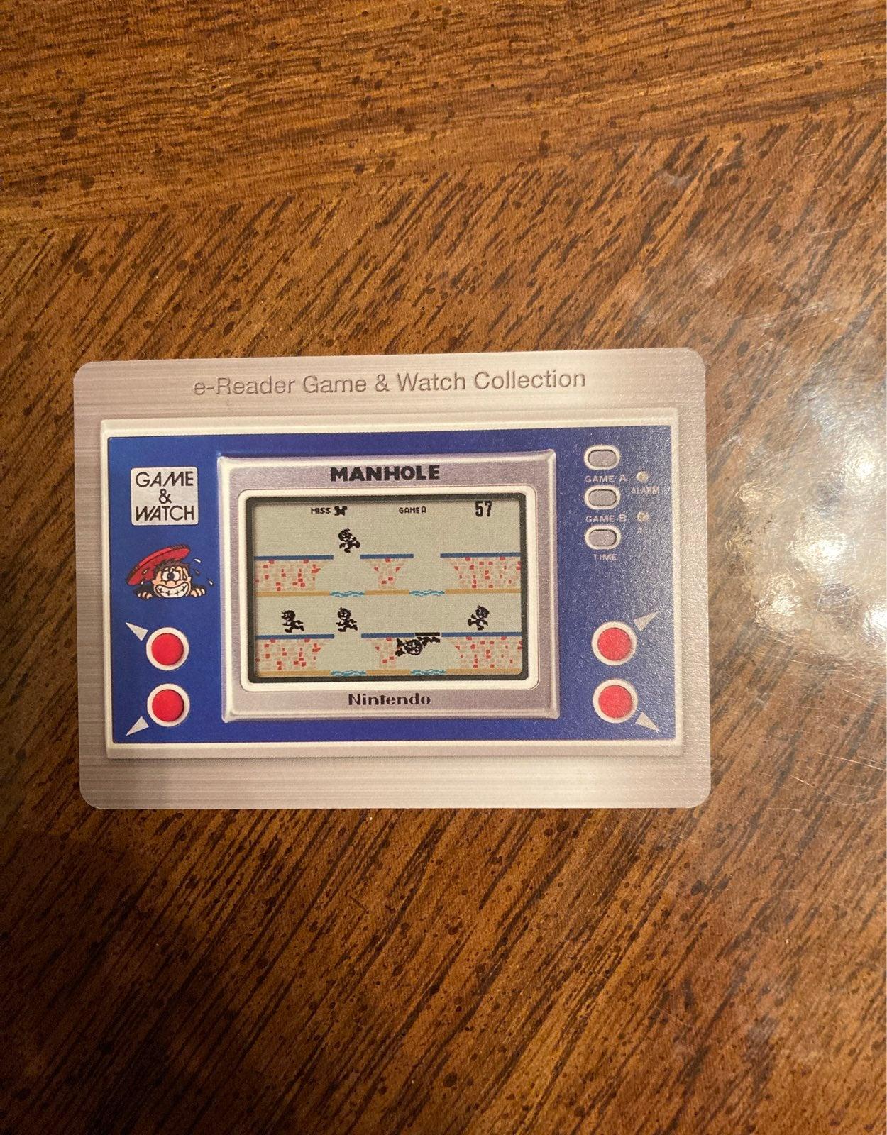 Nintendo Game Watch E reader Card