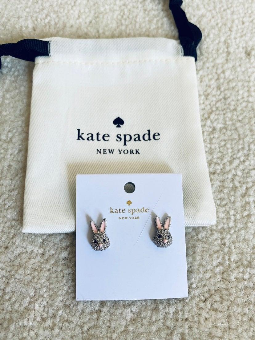NEW Kate Spade Rabbit Stud Earrings