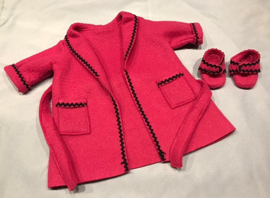 American Girl Pink Fleece Robe Slippers