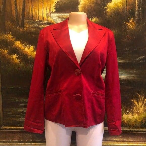 Chico's 2 Button Blazer Red Size 1